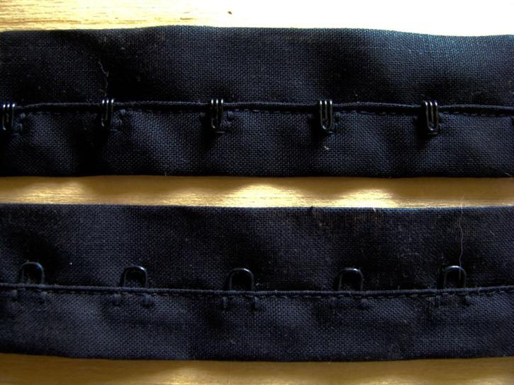 1m BW-Korsagenverschuss in schwarz Fb4000