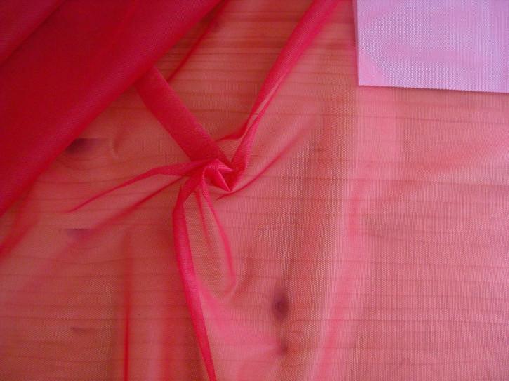1m Wäsche-Tüll in mohn-rot Fb0102