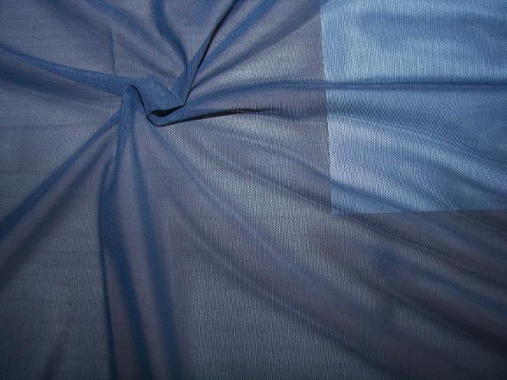 1m bi-elastischer Wäschetüll in dunkel-blau Fb0016