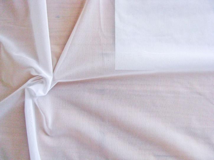 1m bi-elastischer, feiner Wäschetüll in rein-weiß Fb2000