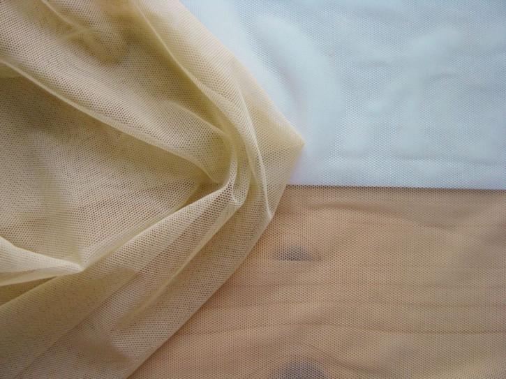 "1m bi-elastischer ""Hautstoff"" Wäschetüll in karamell/hautfarbeFb0260"