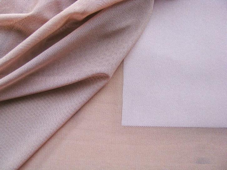 1m bi-elastischer Wäschetüll in hellem rosen-holz Fb0284