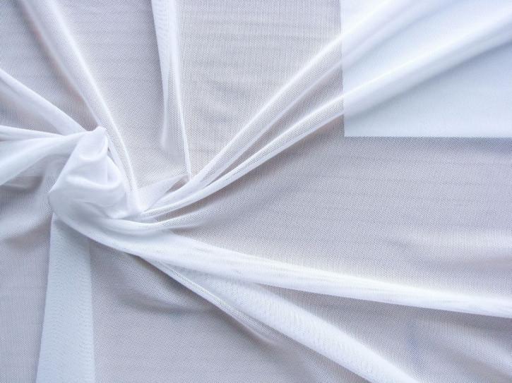 1m bi-elastischer Wäschetüll in rein-weiß Fb2000