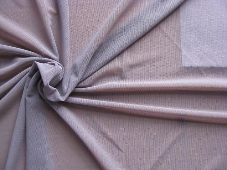 1m bi-elastischer Wäschetüll in rauchigem/graustichigem metall-lila Fb0012)