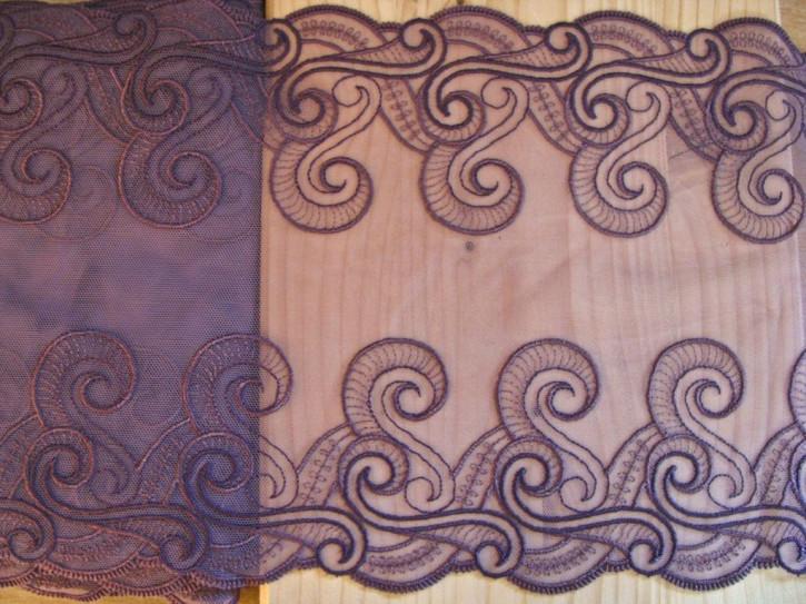 elastische, bestickte Spitze in zyklame Fb0575 und lila