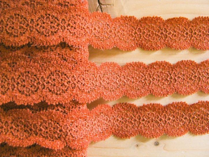 3m elastische Spitze in bronze/rehbraun Fb1454