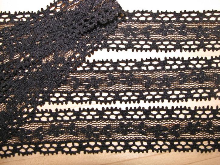 3m elastische, zarte Spitze in schwarz Fb4000
