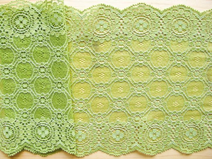 1m elastische Spitze in hellem reseda-grün Fb0840
