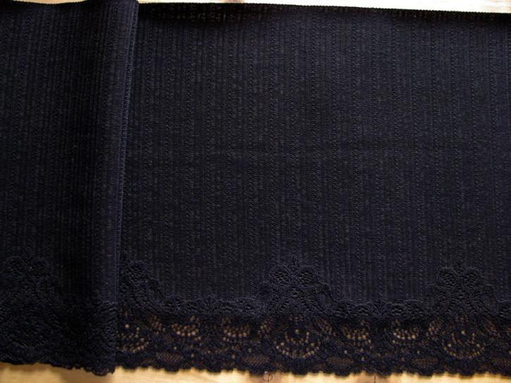 1m feste, elastische Spitze in schwarz Fb4000