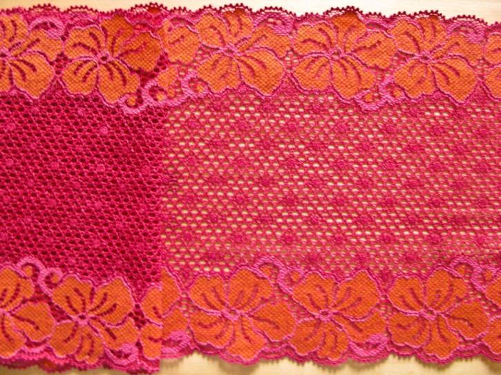 """1m elastische Spitze """"Flowers of Hawaii"""""""