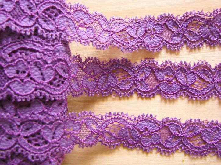3m elastische Abschluss-Spitze in rot-violett Fb0056