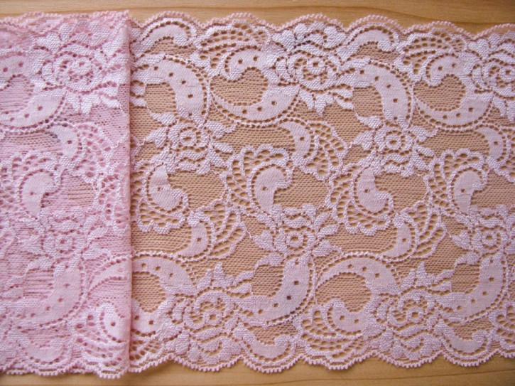 1m elastische Spitze in zartem rosa Fb1056