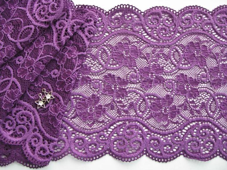 1m elastische Spitze in veilchen-lila Fb0046