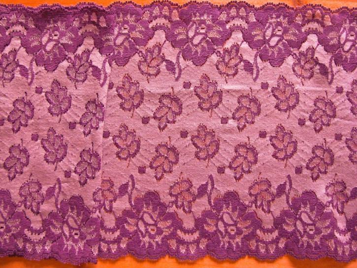 1m elastische Spitze in rot-violett Fb0056...orchidee