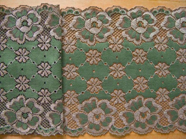 1m elastische Spitze in weidenlaub-grün Fb0844