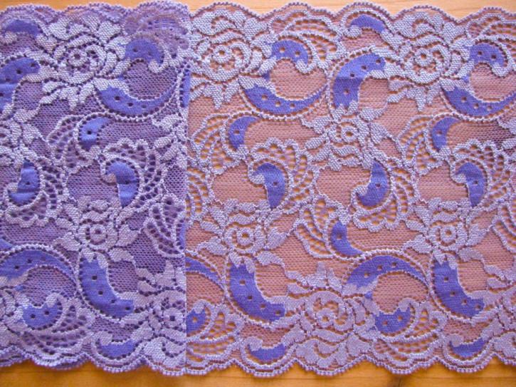 1m elastische Spitze in milka-lila/flieder Fb0009