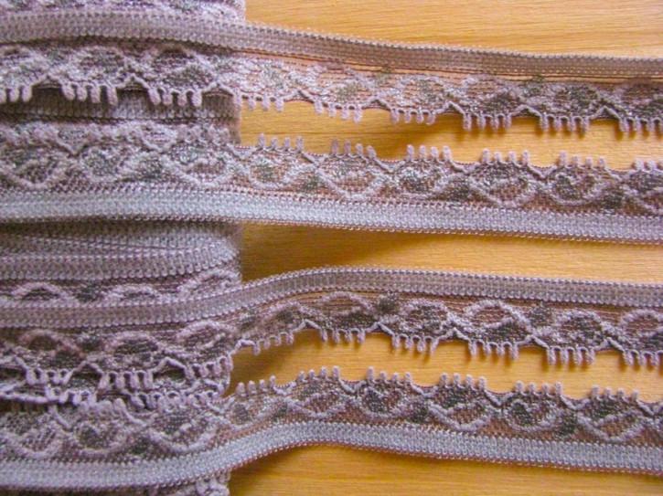 3m elastische Abschluss-Spitze in rauchigem perl-lila Fb0572
