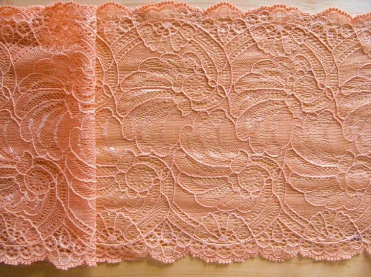 1,45m elastische Spitze in gedämpftem orange/helles terra Fb1073