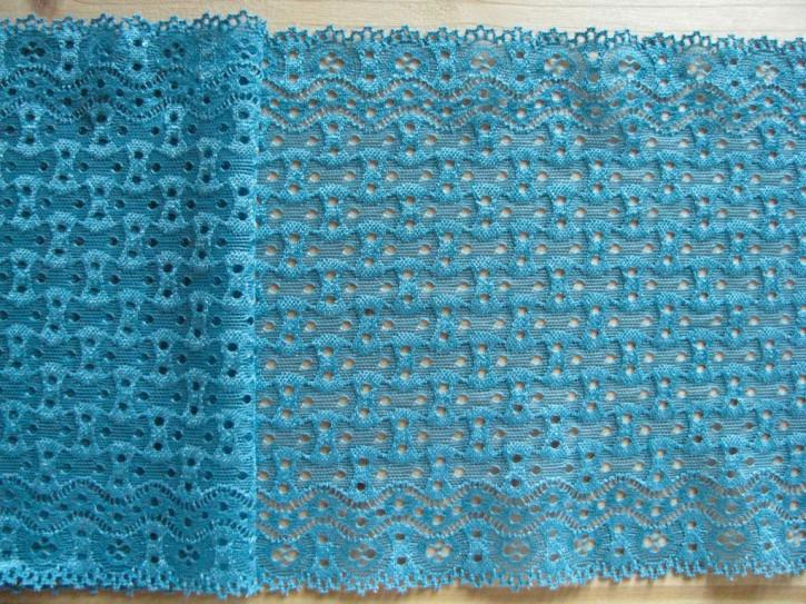 1m elastische Spitze in lagunen-blau Fb0351
