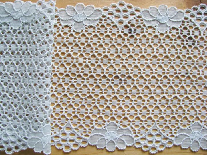 1m elastische Spitze in glas-grau Fb0037
