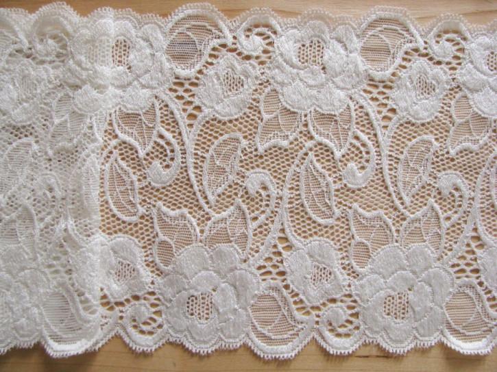 1m elastische Spitze in off-white/woll-weiß Fb1000