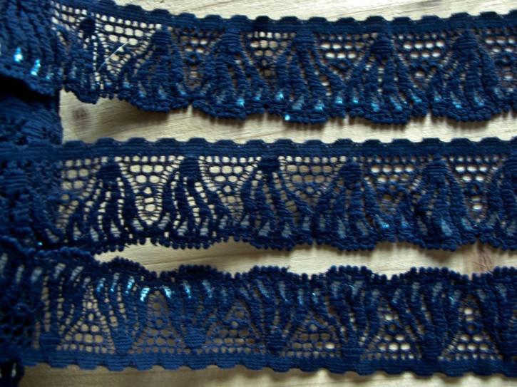 3m elastische Duo-Spitze in d.marine-blau Fb0825....perl-weiß