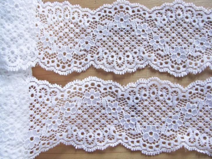 1m elastische Spitze in rein-weiß Fb2000 Hochzeitsspitze