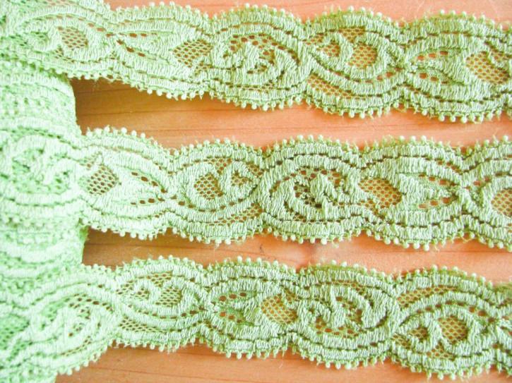 2m elastische Spitze in apfel-grün Fb0092