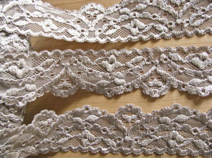 2m elastische Spitze in ginger/beige Fb1222