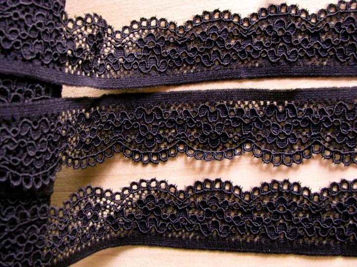 2m elastische Spitze in dunklem aubergine Fb0793