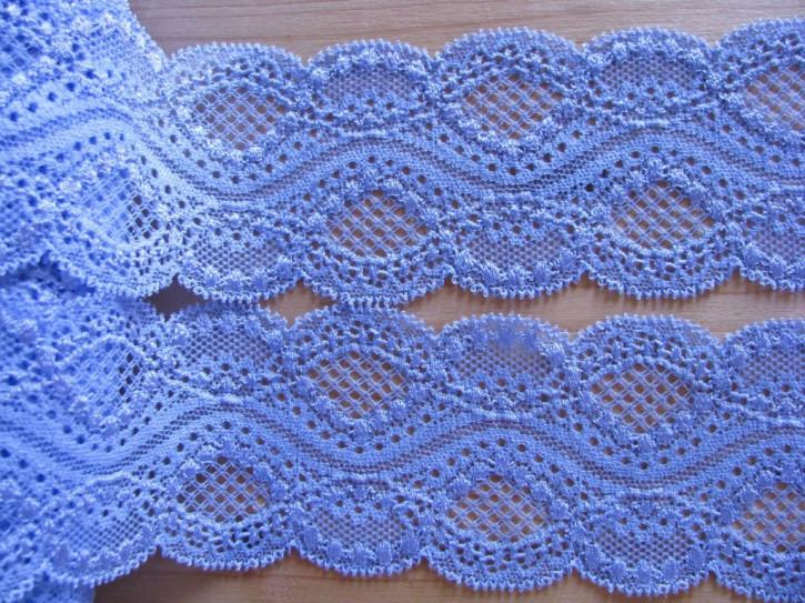 1m elastische Spitze in azur-blau/Richtung puder-blau 1466