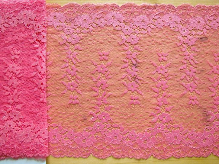 1m elastische XL-Spitze in kräftigem flamingo Fb0103