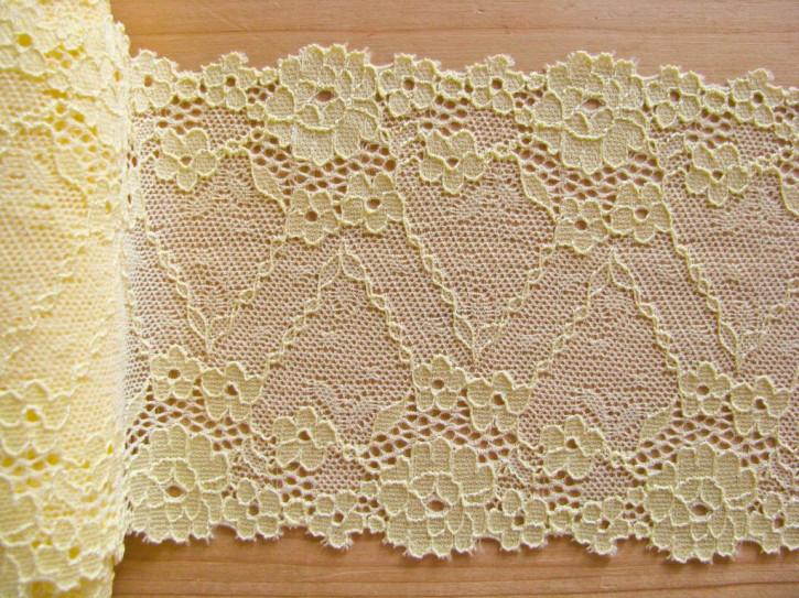 1m elastische Spitze in zartem hell-gelb Fb1454