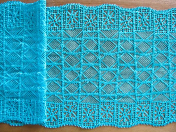 1m elastische Spitze in kräftigem pool-blau Fb0409