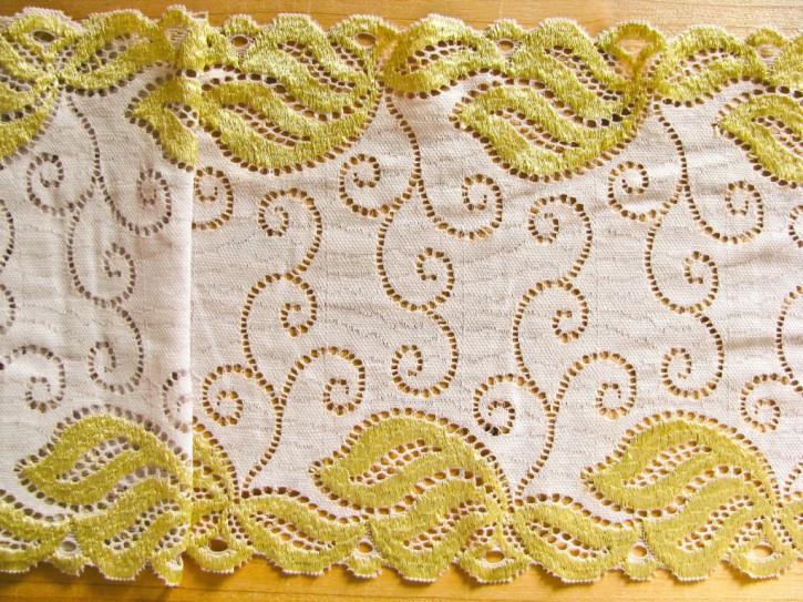 """1m elastische Spitze """"Ornaments of Gold"""""""