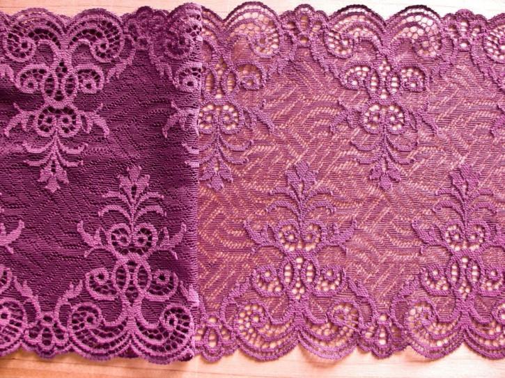 1m elastische Spitze in grapewine/rot-violett Fb0056
