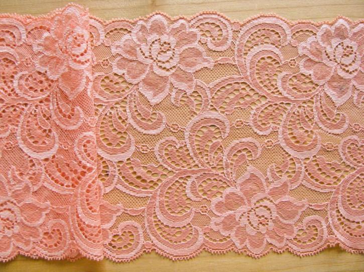 1m elastische Spitze in zarter pfirsichblüte Fb0081