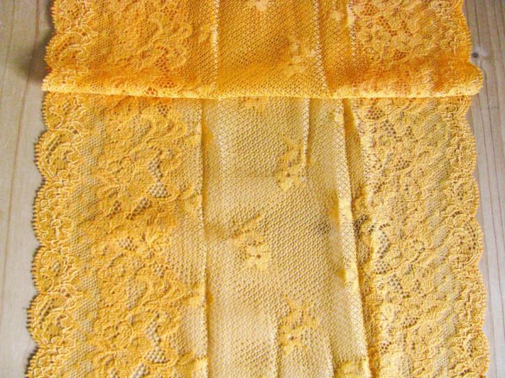 1m elastische XL-Spitze in dotter-gelb Fb0122