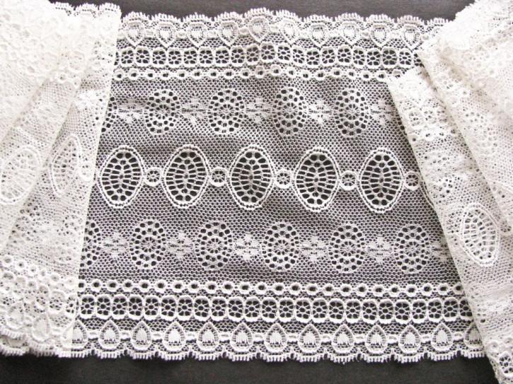 1m elastische Spitze in winter-weiß/off-white Fb1000