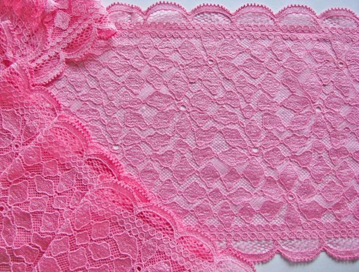 1m elastische Spitze in pink/bon-bon Fb1423