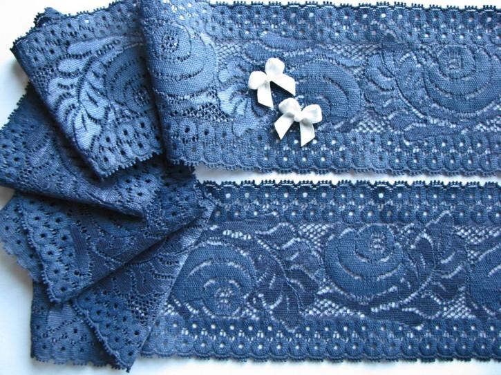 1m elastische Spitze in moonlight/Richtung jeans-blau Fb0311