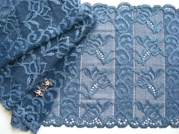 1m elastische Spitze in jeans-blau/moonlight Fb1467