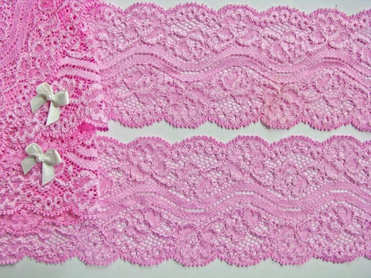 1m elastische Spitze pinkiges bonbon-rosa Fb1423