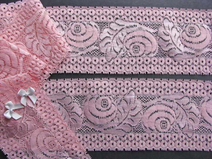 1m elastische Spitze in malve/kräftiges rosa Fb1056