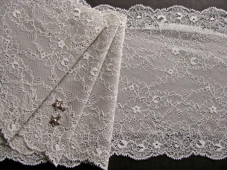 1m elastische Spitze in silber-grau Fb0037