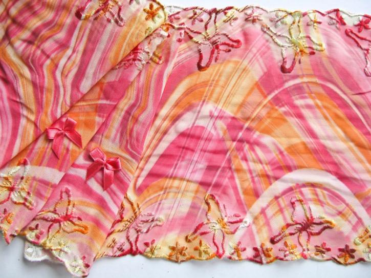 "1m elastische Spitze ""Colorful Butterfly"""