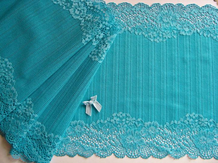 1m elastische XL-Spitze in türkis-blau Fb1394
