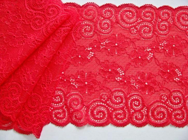 1m elastische Spitze in feurigem Rot Fb0503