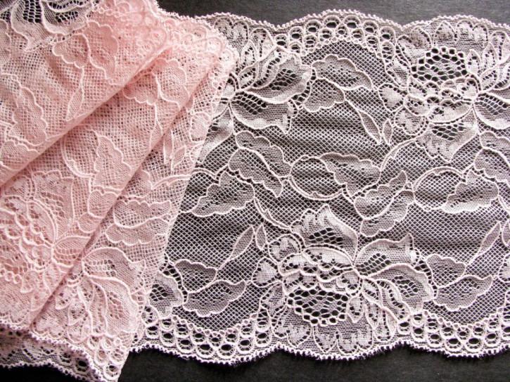 1m elastische Spitze in pastelligem Rosa/candyfloss Fb0082