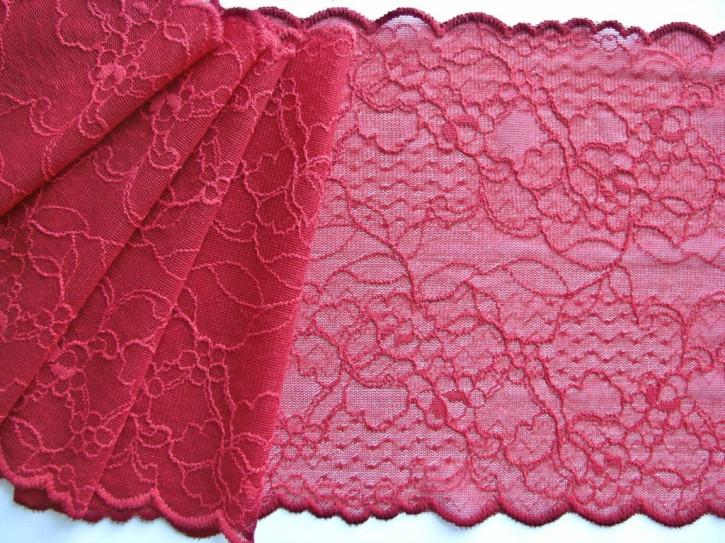 1m elastische Spitze in kirsch-rot Fb0504